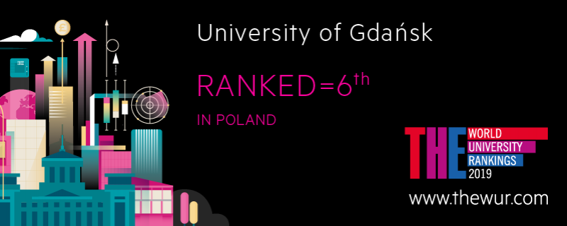 University of Gdańsk has ranked number 6 in Poland among 12 Polish universities